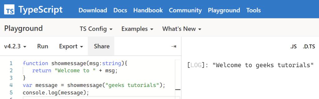 compile typescript online